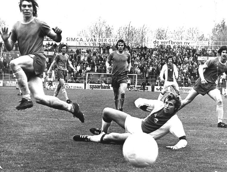 Ajax - FC Den Haag (1974) Beeld anp