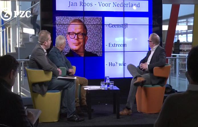 Jan Roos in gesprek met Ernst Jan Rozendaal en Ferdinand Koppejan.