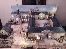 Philippe et Hubert ont reproduit l'Abbaye du Val-Dieu en santon
