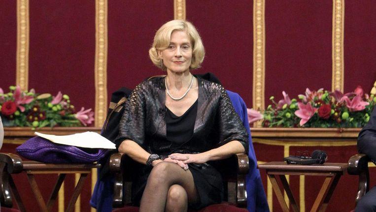 Martha Nussbaum eerder tijdens een evenement op een Spaanse universiteit Beeld epa