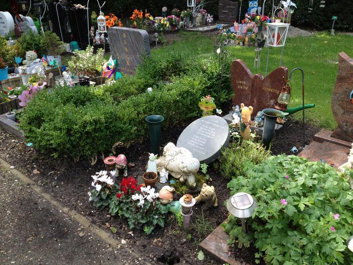 Het graf op begraafplaats Daelwijck, van baby Renée van Utrecht, die op 30 oktober 2006 dood gevonden werd bij afvalverwerker AVR in Utrecht, op bedrijfsterrein Lage Weide.