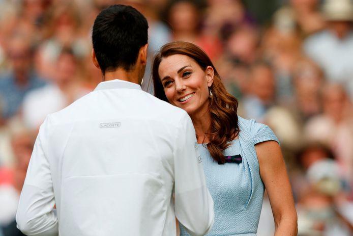 Felicitaties van hertogin Kate voor Djokovic.