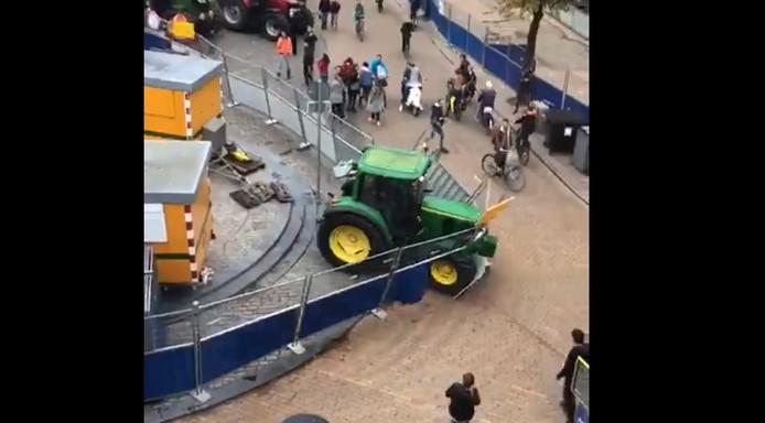 Trekker ramt hekken in Groningen