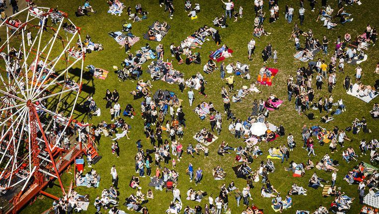 Bezoekers van het Bevrijdingsfestival in Zwolle Beeld anp