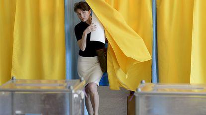 Stembureaus Oekraïne open