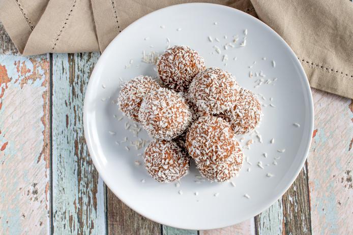 Raw kokosballen met vijg