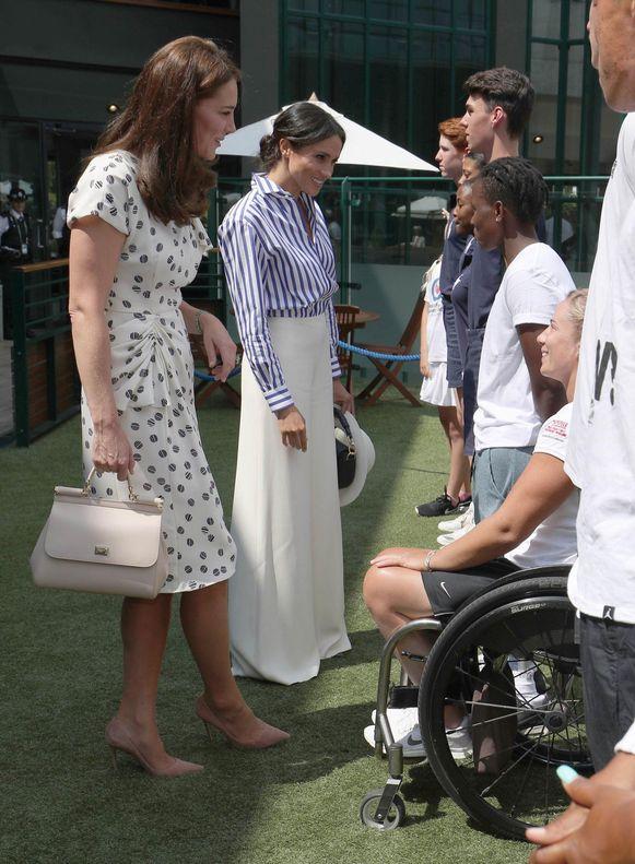 Kate Middleton en Meghan Markle op Wimbledon.