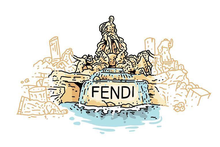 Monument: Trevi-fontein, Rome. Opgeknapt door: Fendi. Bedrag: 1,9 miljoen euro. 2013-2015. Beeld Olivier Heiligers