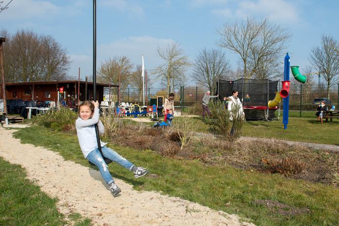De kabelbaan scoort bij kinderen hoog als favoriet speeltoestel. Hij eindigde in de top drie.