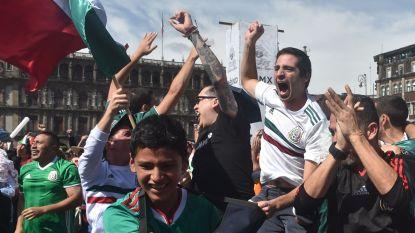 Juichende Mexicaanse voetbalfans doen aarde beven na doelpunt tegen Duitsland