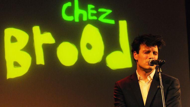 Hoofdrolspeler Stefan Rokebrand kroop donderdag voor het eerst officieel in de huid van de in 2001 overleden rockster Beeld anp