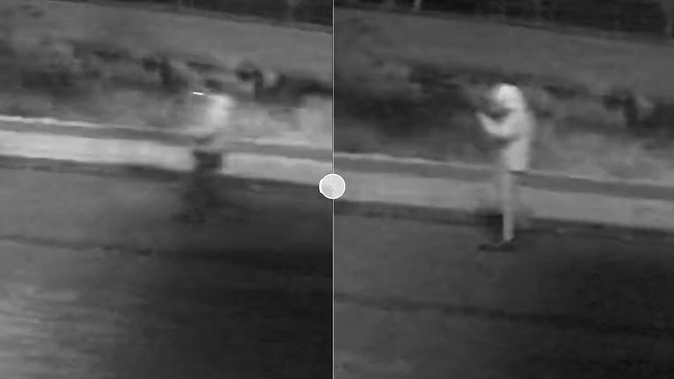 Naast de lange dunne man zoekt de politie ook twee kleinere daders, van 1.70-1.80 lang.