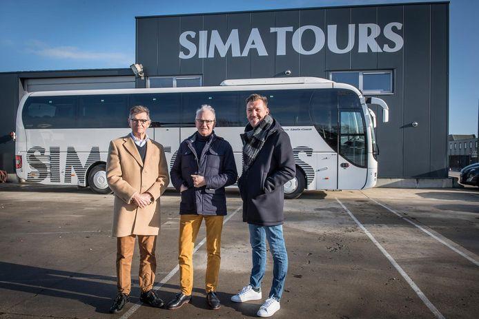Romain Vandevelde, Norman Vandevelde en Lieven Vandevelde van Autocarbedrijf Sima Tours .