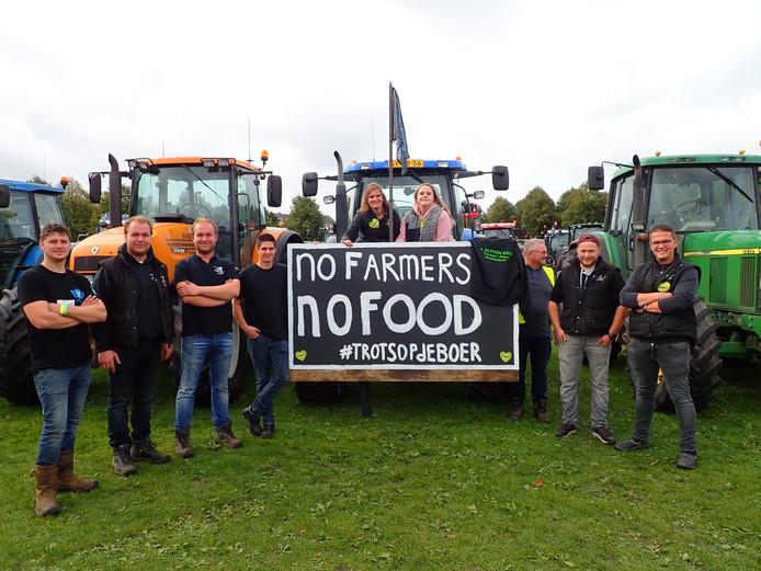 Zeeuwse boeren bij het protest op het Malieveld in Den Haag vorige week.