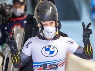 """Kim Meylemans glijdt in Winterberg voor de top acht: """"Normaal moedigen dertig vrienden mij aan, maar nu zal ik vooral mijn coach horen"""""""