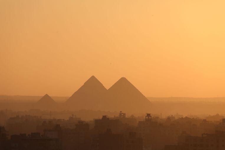 De piramides van Gizeh  Beeld AFP