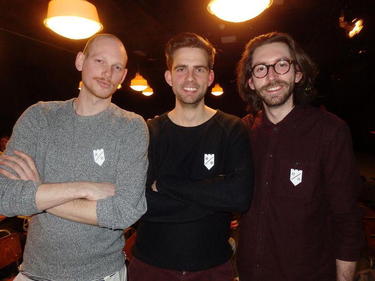 Ivar de Jong, Chris Onsman en Justin van Creij organiseren Reclameridders, vier keer per jaar, en rond kerst eentje extra voor expats. Beeld Schuim
