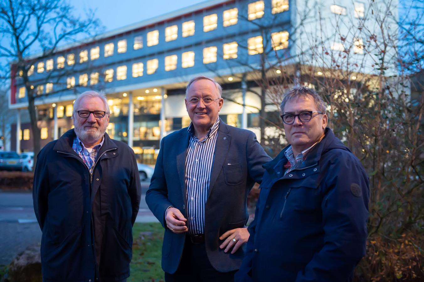 Drie bestuursleden van de maandagmiddag officieel opgerichte Stadstafel Zevenbergen: Peter Krielen, David de Jonge en Cees van Dorst (van links naar rechts).