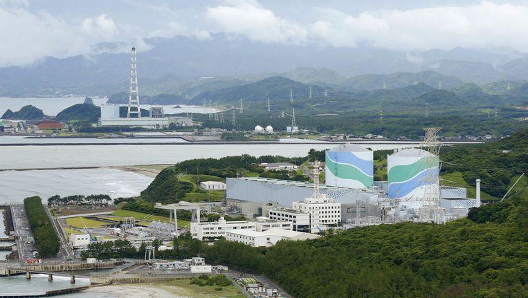 De kerncentrale van Sendai in juni 2013.