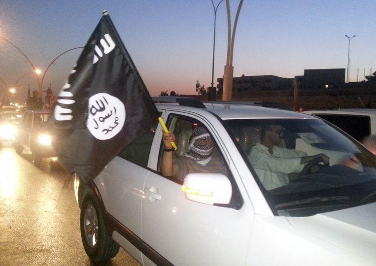 Een Isis-strijder in Mosoel. Beeld reuters