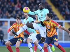L'Inter Milan et Lukaku accrochés à Lecce