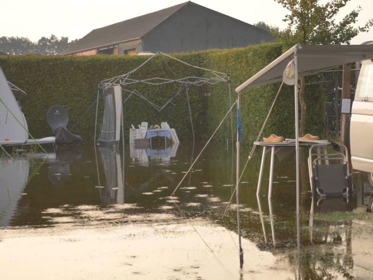 Camping door lokaal noodweer veranderd in zwembad