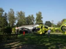 Vrouw onwel na steek van wesp op haar keel, traumaheli landt op camping in Kaatsheuvel