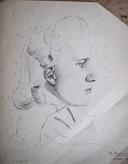 Suzy Wahl, getekend rond 1940 door Arnhemmer Bert Gorissen