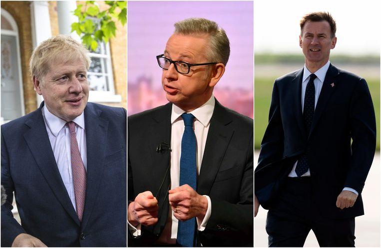 Boris Johnson, Michael Gove en Jeremy Hunt worden als de drie grootste kanshebbers voor de post van premier gezien.
