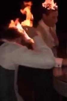 """Invités à un mariage, ils mettent le feu à leurs cheveux pour """"s'amuser"""""""