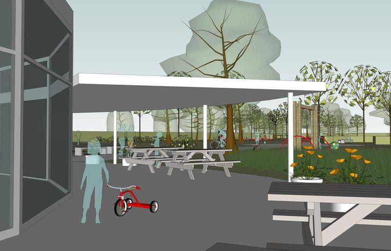 Tegen de zomer van 2018 zal het nieuwe ontmoetingscentrum klaar zijn voor gebruik.