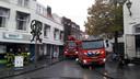 Ontploft trafohuisje Teerkamer Bergen op Zoom Beeld vanaf de Grote Markt