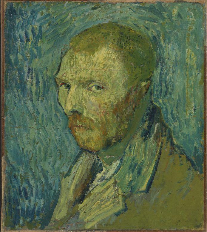 Zelfportret, Vincent van Gogh, 1889.  In het bezit van Nasjonalmuseet for kunst, Oslo.
