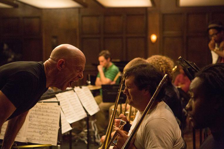 J.K. Simmons (links) als de gevreesde jazzdocent¿Terence Fletcher. Beeld Sony Pictures Classics