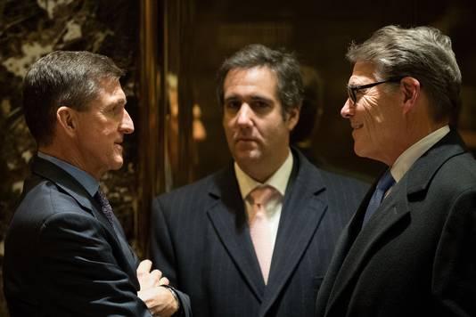 In het midden staat Michael Cohen.