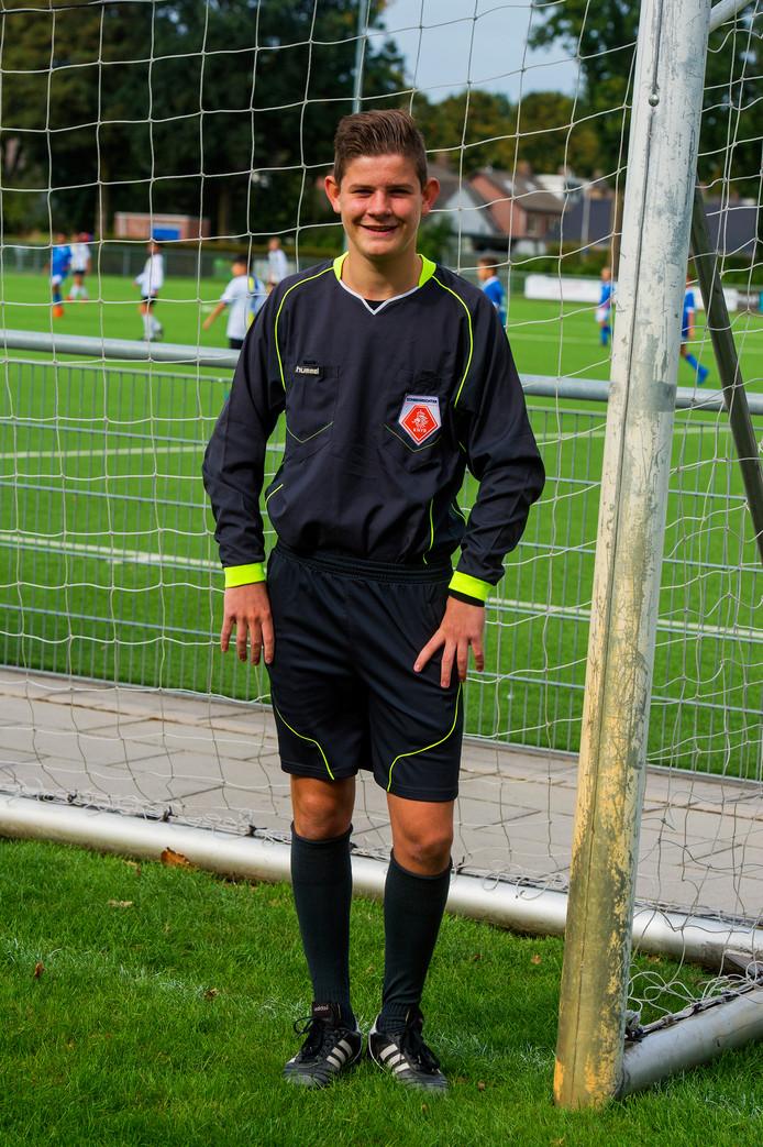 Tjeu van Rijsewijk, winnaar van de jongerenvrijwilligersprijs 2018.