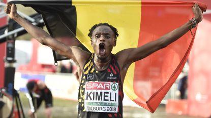 """Isaac Kimeli verovert heel knap zilver op EK veldlopen in Tilburg: """"Een zottenkot dankzij alle Belgische fans"""""""
