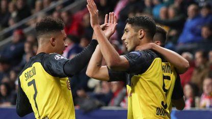 Hakimi schiet Borussia Dortmund met twee treffers naar zuinige overwinning