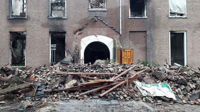 Landgoed Haarendael in Haaren bijna vier maanden na de brand.