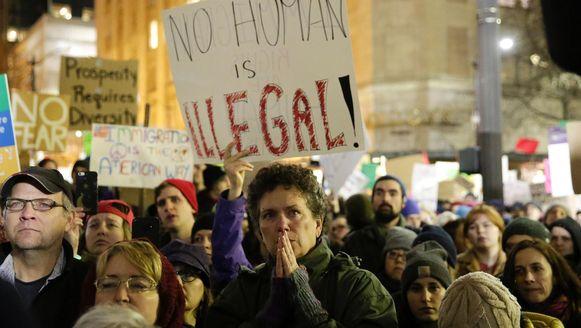 Protesten in Seattle tegen het inreisverbod van Trump.