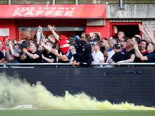 Geen wedstrijd op tv-scherm in stadion MVV na rellen