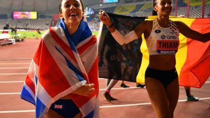 Onze atletiekspecialiste Valerie Hardie ziet dat Thiam niet langer op eenzame hoogte staat