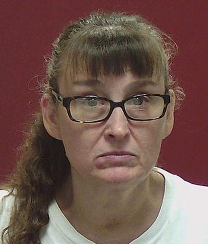 Politiefoto van verdachte Jennifer Vaughn: de vrouw die Kaylee in een bad kokend water zette.