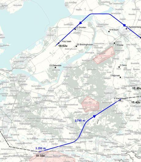 Kijk hier hoe laat de belevingsvlucht van Lelystad Airport woensdag bij jou langskomt