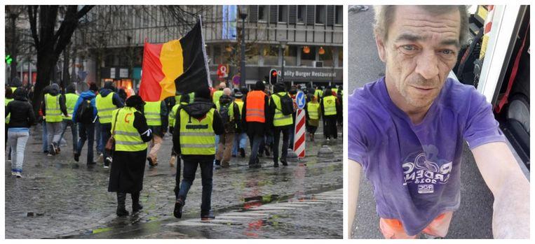 Zo'n kleine 300 mensen stapten zaterdag mee in een mars in Luik ter nagedachtenis van slachtoffer Roger Borlez (49) (foto rechts).