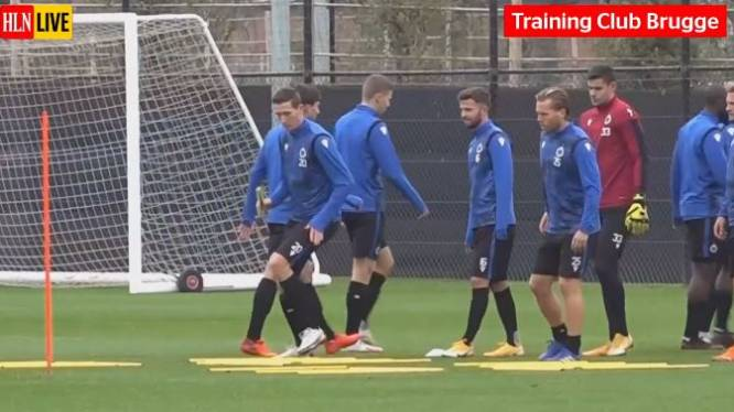 KIJK LIVE. Club Brugge traint met het oog op Champions League-duel tegen Lazio