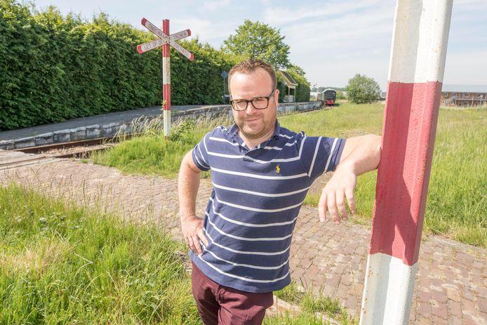 Op Hemelvaartsdag zou het driedaagse treinevenement Sporen naar het Verleden losbarsten. Organisator Martin Huzen staat nu helemaal alleen op het terrein van de Stoomtrein Goes-Borsele.