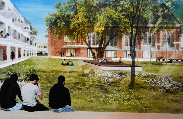 Een blik op de toekomstige Paterssite, waar een 40-tal woningen komen. Een 15-tal woningen zal worden ingenomen door Cohousing Patershof.