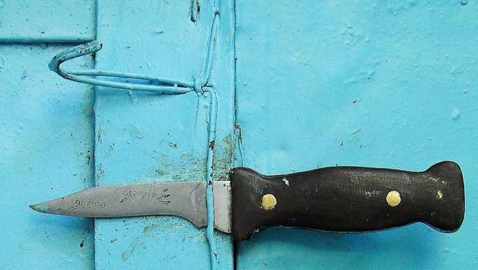 De verdachte had een schilmes, vijl en schaar bij zich (foto dient ter illustratie)