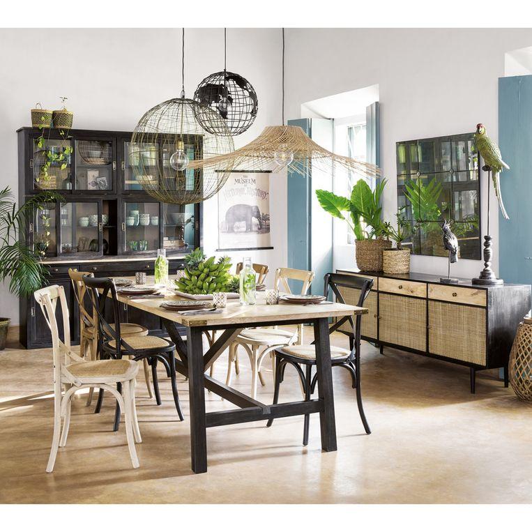 Voorbeeld: buffetkast van massieve mango en acaciahout uit de Indiescollectie. Richtprijs: 799 euro. www.maisonsdumonde.com